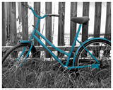 Teal Bike I Poster
