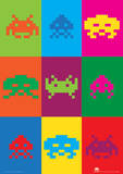 Space Invaders (Pop Art) Retro Video Game Poster Masterprint