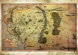 The Hobbit - An Unexpected Journey Map Movie Poster Print Masterprint