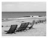 Seaside Seating Print by Eve Turek