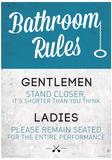 Bathroom Rules Funny Sign Poster Neuheit