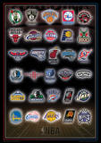 NBA - Team Logos Basketball Sports Poster Masterprint