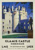 Glamis Castle Vintage Style Travel Poster Masterprint