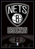 NBA - Brooklyn Nets Logo Basketball Sports Poster Masterprint