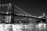 Brooklyn Bridge and Manhattan Bridge, Night Prints by Phil Maier
