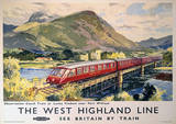 The West Highland Line Vintage Style Travel Poster Lámina maestra