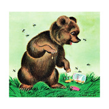 Bees for Bear - Jack & Jill Giclee Print by Irma Wilde