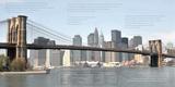 Phil Maier - Brooklyn Bridge Architecture - Poster