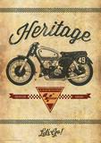 Moto GP (Heritage) Motorcycle Sports Poster Masterprint