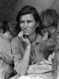 The Migrant Mother, c.1936 Fotografisk tryk af Dorothea Lange