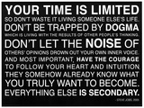Your Time Is Limited - Steve Jobs Quote Poster Masterprint