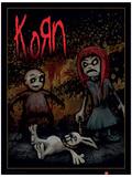 Korn - Dead Bunny Music Poster Masterprint