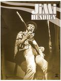 Jimi Hendrix (Live) Music Poster Masterprint