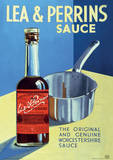Lea & Perrins (The Original Worcester Sauce) Vintage Style Advertisment Poster Masterprint