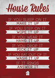 House Rules Funny Poster Masterprint