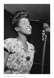 Sarah Vaughan, WMCA Microphone Posters by William Gottlieb
