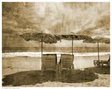 Vintage Beach Seating Posters