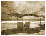 Vintage Beach Seating Prints