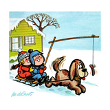 Dog Sledding - Jack & Jill Giclee Print by Lee de Groot