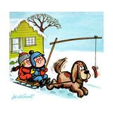 Dog Sledding - Jack & Jill Giclee Print by Lee de Groot