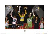 Le Tour De France (Winners' Podium 2013) Sports Photo Poster Masterprint