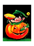 Pumpkin Elf - Jack & Jill Giclee Print by Ruth Bendel