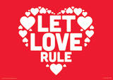 Let Love Rule Text Poster Masterprint