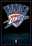 NBA - Oklahoma City Thunder Logo Basketball Sports Poster Masterprint