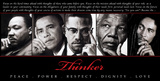 Thinker (Quintet): Peace, Power, Respect, Dignity, Love Affiches
