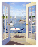 Table on the Harbor Poster by Carol Saxe