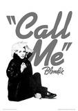 Blondie (Call Me) Music Poster Masterdruck