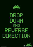 Space Invaders (Drop Down And Reverse Direction) Retro Video Game Poster Masterprint