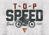 Moto GP (Top Speed) Motorcycle Sports Poster Masterprint