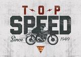 Moto GP (Top Speed) Motorcycle Sports Poster Masterprint