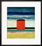 Red House, 1932 Gerahmter Giclée-Druck von Kasimir Malevich