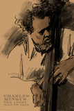 Charles Mingus Poster von Clifford Faust