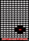 Space Invaders (Don'T Invade My Space!) Retro Video Game Poster Masterprint