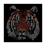 Chinese Character Tiger Giclee Print