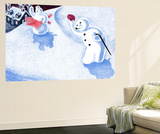 Good Morning Snowman - Jack & Jill Wall Mural by Beth Henninger
