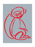 Witty Monkey Giclee Print