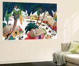 Island Village - Jack & Jill Wall Mural by Katherine Millhous