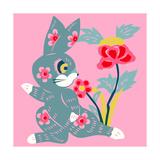 Eastern Pop Bunny Giclee Print