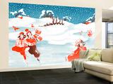 Fell on the Ice - Jack & Jill Wall Mural – Large by Ann Eshner