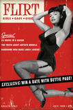Bettie Page Flirt Pin-Up by Retro-A-Go-Go Poster Photo