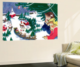 Waiting for Santa - Jack & Jill Wall Mural by Julia Nordell