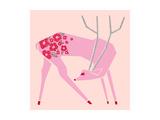 Plum Blossom Deer Reproduction procédé giclée