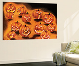 Pumpkin Smiles - Jack & Jill Wall Mural by Rachel Owings
