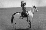 Native American on Horseback 2 Poster Photo