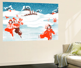 Fell on the Ice - Jack & Jill Wall Mural by Ann Eshner