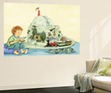 Choo Choo Fun - Turtle Wall Mural by Marsha Winborn